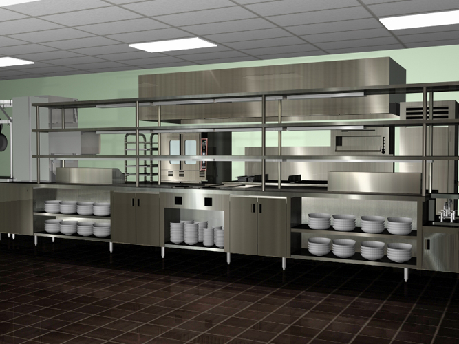 Commercial kitchen architectural plan kitchen design ideas for Professional kitchen design